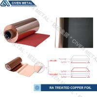 Buy cheap Red / Black Fatigue Resistance Treated Ra Copper Foil 12um 18um 25um from Wholesalers