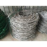 Buy cheap 12# *14# Galvanized Barbed Wire Hot Dip Galvanized Iron Wire Fence from Wholesalers