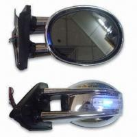China Car Rear View Mirror with LED Light and Black Agleam Painted factory
