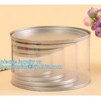 China PET Jar 85mm neck size food grade clear PET plastic Can screw type with aluminium easy open endsPackaging plastic can 25 factory