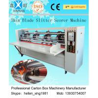 China Carton Thin Blade Corrugated Cardboard Slitter Scorer Machine Automatic Control factory