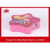 China Christmas Star Shaped Candy Gift Tins , Personalized Packaging Tin container Box on sale