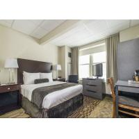 Quality Modern Grey Hotel Bedroom Furniture Sets Solid Wood Comfortable Environment - Friendly wholesale
