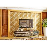 Buy cheap Luxurious Modern Style Wallpaper with Removable Gold Foil Material , Geometric Pattern from Wholesalers