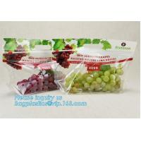 China cpp printed slider zip lock vegetable fruit bag, grape packing bags/ fresh grape packaging bag, food preservation slider factory