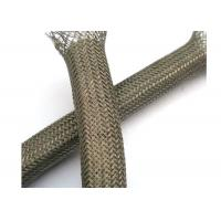 Buy cheap Abrasion - Resistant Braided Shield Sleeve Tinned Copper For Grounding / Decoration from Wholesalers