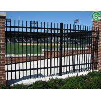 China Assisted Living Facilities Fencing Decorative Wrought Iron Fence With Bending Top on sale