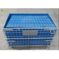 Buy cheap Wire Mesh Stillage Container Portable Pallet Storage Turnover Cage With Wheels from wholesalers