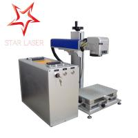 China Blue 10W Fiber Laser Marking Machine , Pipe Laser Marking Engraving Machine factory