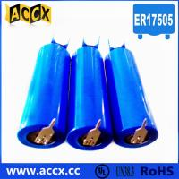 China 3.6v lithium battery ER17505 3500mAh with two pins factory