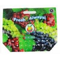 China fruit slider package Bag, Fruit Laminated Bunch Bag Slider Zipper Bags Apple / Grape Laminated Bunch Bag factory