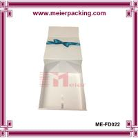 China Premium Apparel Boxes Folding White Coated Gift Boxes Pop-up Paper Boxes with hot stamping logo on sale