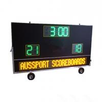 China Electronic Waterproof Outdoor Soccer Scoreboard With Message Sign / Moving Stand factory