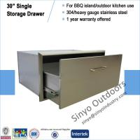 "Quality Built-in stainless BBQ island 30"" storage single drawer for sale"