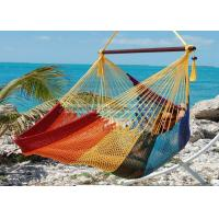 Quality Multi Colored Rainbow Grand Caribbean Lounge Hammock Chair With Pillow 275 for sale