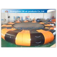 China 0.9mm Pvc Tarpaulin Inflatable Water Game Platform 6.5m Diameter For Air Water Toy factory
