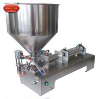 China Pneumatic type filling machine for high viscosity liquid and paste factory