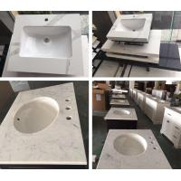 Buy cheap Quartz in carrara white color bathroom vanity counter top white quartz kitchen top quartz with cheap price from Wholesalers