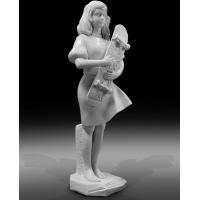China Indoor art exhibition marble sculptures beautiful girl stone statue,stone carving supplier factory