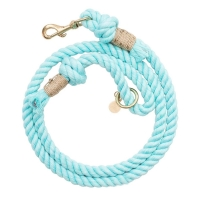 China Eco Friendly Natural Cotton Multiple Color Durable Rope Dog Leash factory