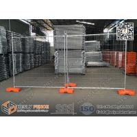 China 2.1m high Temporary Fence Panels for construction site 14microns hot dipped galvanized zinc layer on sale