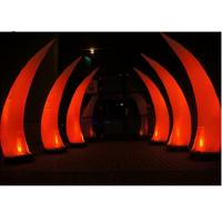China Beautiful Bridge Led Inflatable Lighting For Evening Party Red Tusk Type on sale