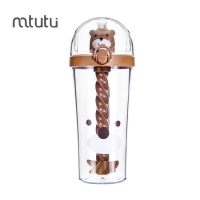 Buy cheap Stirring Function Clear 500ml Plastic Bottle With Straw from wholesalers