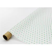 China Fade Resistant Hot Stamping Tissue Paper 17gsm Green Dot For Bouquet factory