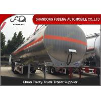 55CBM Three Axles Fuel Tanker Semi Trailer Aluminum alloy / Carbon Steel Body
