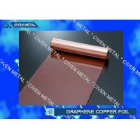 China Rolled Copper Foil For Graphene 400mm 600mm Width , Thin Copper Sheets factory