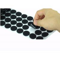 Buy cheap Die Cut Back Adhesive Hook And Loop Dots 100mm  Coins Bulk from Wholesalers
