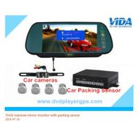 China 7inch bluetooth lcd car vehicle rear view rearview mirror monitor parking sensor on sale
