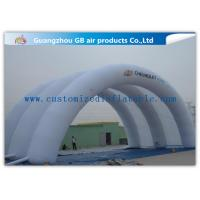 China White Inflatable Arch Tent / Inflatable Tunnel Tent With Oxford Cloth Material factory