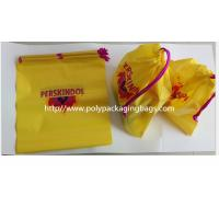Buy cheap Yellow Color Pvc Custom Plastic Drawstring Bags For Cosmetic / Daily Necessities / Clothes from Wholesalers