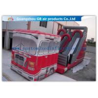China Outdoor Truck Shape Inflatable Water Slides For Kids And Adults Customized factory