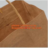China Promotional paper bag in fancy paper and foil logo, Fashion gift paper bag with ribbon handle, Special handle design pap factory
