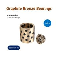 China Self Lubricating Solid Inlaid Graphite Plugged Bushings on sale