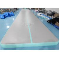 China 33ft Mint Green home training Cheerleading Inflatable tumbling air mats for Gymnastics factory