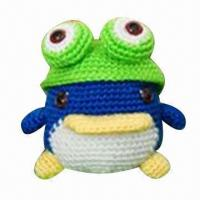 China Animal-knitted Toy, Comes in Frog Shape, Measures 10 x 12cm  factory
