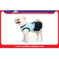 China Navy Blue / Red Girl Dog Dress Cute Pet Clothes , Small Dog Coats for Winter factory