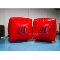 China 1.5M Cube Race Marker Inflatable Water Buoys For Water Sports Event factory