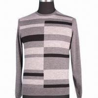 Buy cheap Men's pullover, made of 100% merino wool, with several colors special stripe from wholesalers