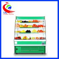 China Curved Glass Refrigeration Equipment Restaurant Style Refrigerator factory