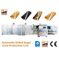 Buy cheap CE Certified Automatic Sugar Cone Production Line With Fast Heating Up Oven , 63 Baking Plates Ice Cream Cone Productio from Wholesalers