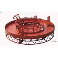 Buy cheap Red Rounded Lifting Powered High Working Rope Suspended Platform for Building Maintenance from Wholesalers