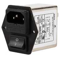 China IEC Inlet Socket 10A Electric Emi Rfi Power Line Filter With Double Fuse factory
