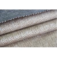 China Heavy Classic Wool Upholstery Fabric Herringbone Twill Cloth Alpaca Woolen Fleece factory