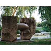 China Red Granite sculpture in park factory