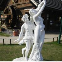 China marble statue, Apollo and Daphne mable sculpture,China stone carving Sculpture supplier factory