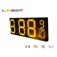 China Waterproof RF Controller LED Gas Price Sign with Iron / Aluminum Cabinet factory